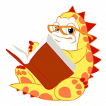 Oog reading a book
