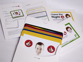 photo of open box with carers booklet