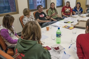 At the most recent meeting, it was show and share time for artist Richard and writer Daniel as some of the young people from Mt Barker and the CREATE gang got their first look at the plot and sketches of the characters.