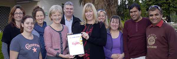 At a ceremony on 14 June this year, Guardian Pam Simmons and EBL CE Wendy Warren signed EBL's certificate of endorsement at a ceremony attended by the EBL staff team