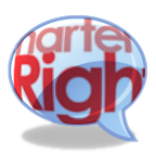 words chater of rights in a speech bubble