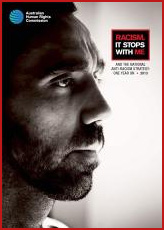 Racism stops - Goodes poster