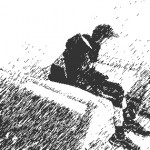 picture of young person in isolation