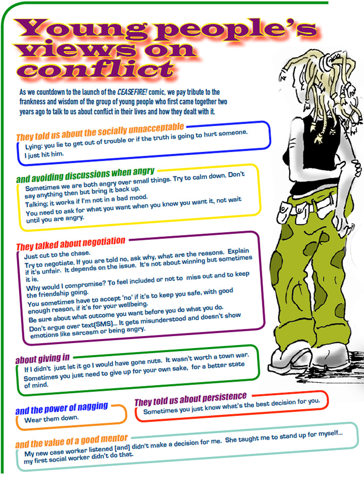 Uping people's views on conflict