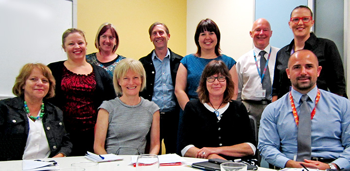 Pictured at the Charter Implementation Committee Meeting on November 18 were: back-left Rebecca Tricker (CAMHS), Donna Scott (Connecting Foster Carers), Warren Guppy (AFSS), Meagan Klapperich (GCYP), Peter Reuter (Second Story, SA Heath), Claudine Scalzi (CREATE), front-left Elaine Kelly (DECD), Pam Simmons (Guardian), Anne Bainbridge (YACSA), Sam Ledger (Youth Justice).  Members absent for that meeting were Julie O'Leary (Disability Services), Linda Hurley (FSA), Sue Phillips (Junction Australia), Jennifer Duncan (Time for Kids), Lee Duhring (DECD).