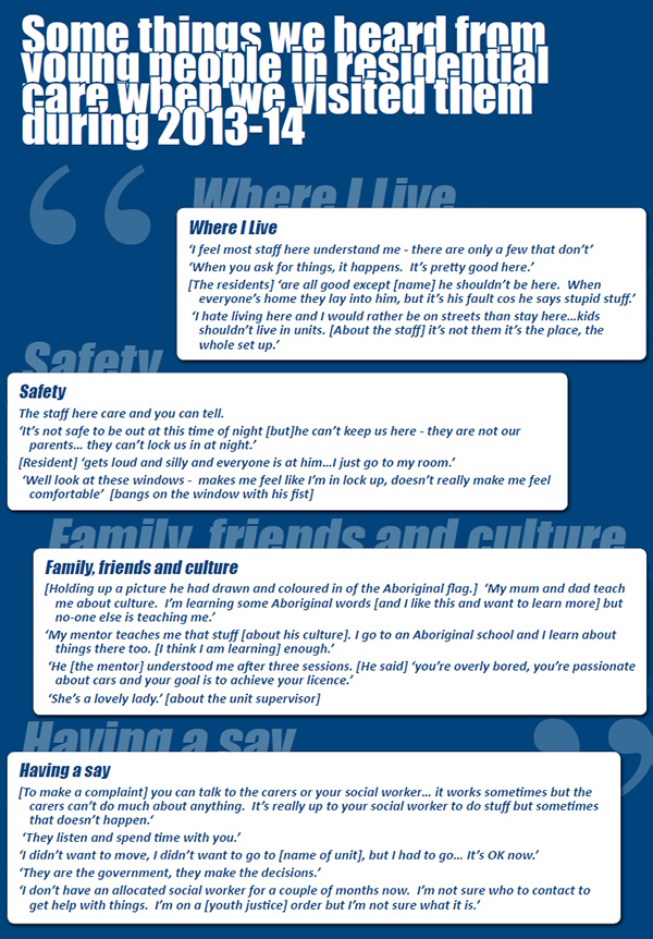 Voices from Residential care 13-14