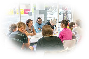 a group of young people at the Royal Commission consultation