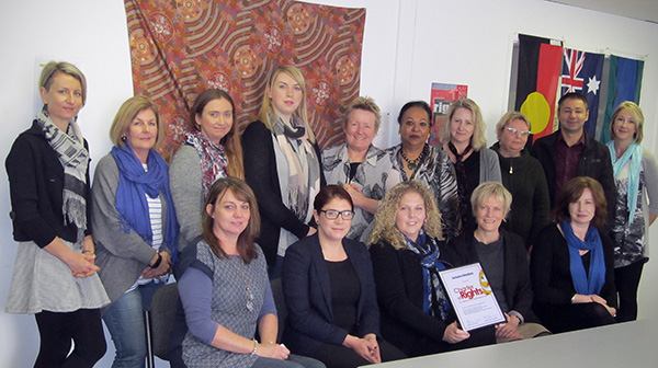 Inclusive Directions Inc. became the latest organisation to endorse the Charter of Rights on June 9. Guardian Pam Simmons is pictured with CEO Jocelyn Grahamand, Charter Champions Michele Haynes, Maggie Botha and Simon Pavelic as well as some of the Inclusive Directions inc. team.