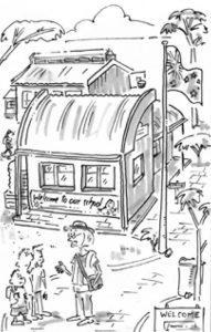 cartoon of children at school gate