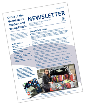 pictur eof front conver of the August 2016 guardians newsletter