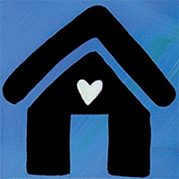 house and heart graphic