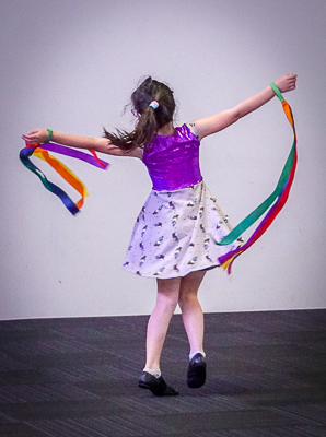 girl dancing with ribbons