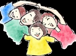 cartoon circle of children