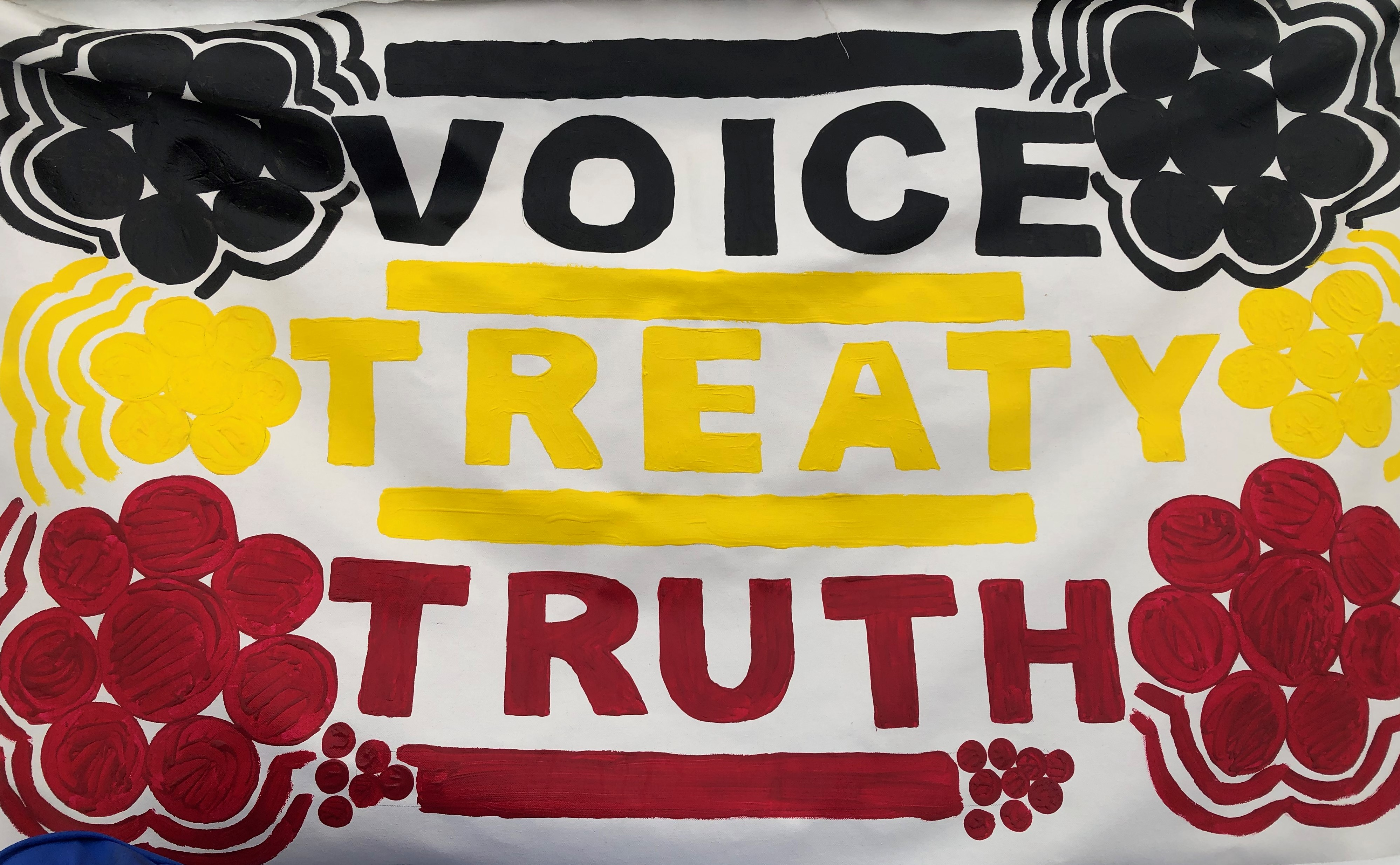Voice. Treaty. Truth. poster painted by Arrin Hazelbane